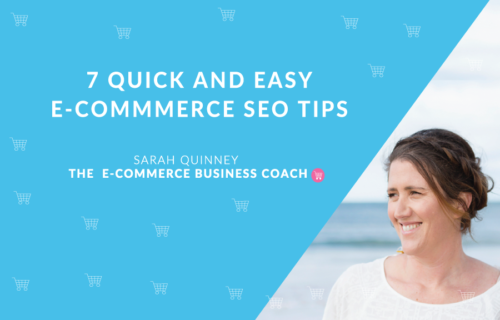 7 Quick and Easy E-Commerce SEO Tips title image