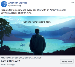 Example Ad: American Express