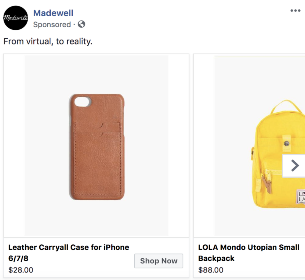 Example Ad: Madewell